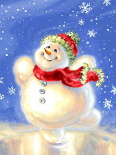 """""""Snowman On Ice"""" - by Dona Gelsinger"""
