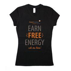 Ambit Energy Juniors 'Ask Me How' Black Vneck T #dsaccess #ambitenergy #apparel #ambitenergyshirt #tshirt