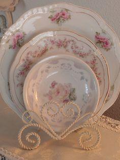 Vintage floral plates by eg2006, via Flickr