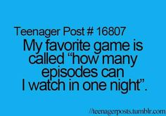 It really is! A few nights ago i stayed up til around 4:00 am and finished a whole season! I think i have issues....