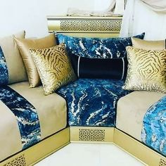 Living Room Sofa Design, Living Room Paint, Living Room Designs, Sofa Colors, Bedroom Colors, Home Decor Bedroom, Blue Sectional, Moroccan Home Decor, Diy Crafts For Home Decor
