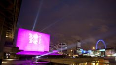 The National Theatre helps launch the London 2012 Festivalwith a spectacular light show.