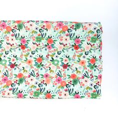 Crib Sheet or Changing pad Cover- MINT TRENDY FLORAL- floral crib sheet- floral changing pad cover- girl baby bedding- girl nursery by sweetheartnsunshine on Etsy https://www.etsy.com/listing/507974467/crib-sheet-or-changing-pad-cover-mint