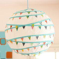 bunting + paper lantern = adorable.