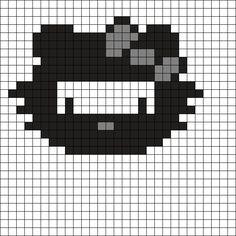 Ninja Hello Kitty Perler Bead Pattern