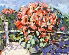 """Flowers on a Balcony"", Konstantin Korovin"
