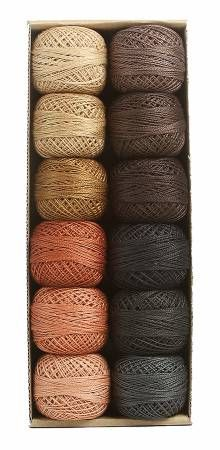 Valdani Pearl Cotton Ball Sz12 109yd 12 Colors As Time Goes By Set 2