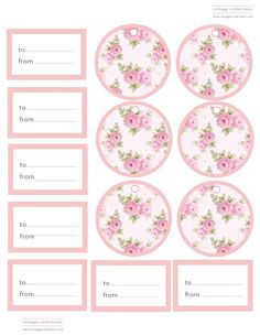 New shabby chic printables prints gift tags ideas Vintage Tags, Vintage Labels, Free Printable Tags, Printable Paper, Free Printables, Etiquette Vintage, Free Graphics, Stickers, Clipart