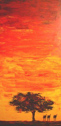 Titre de l'œuvre : no.2007-012  Année de réalisation : 2007  Médium : Acrylique sur toile  Grandeur : 18 x 36 pouces   L'œuvre n'est pas encadrée: non   Prix de départ: 550$
