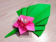 Origami leaf. Easy way to decorate your room.