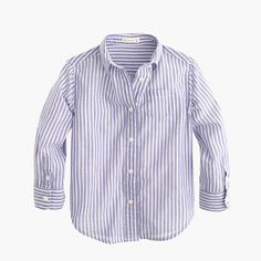 Girls' button-down shirt in stripe : novelty shirts | J.Crew