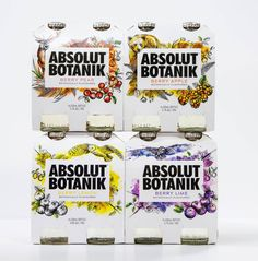 Absolut Botanik by Bold Inc., Australia. #branding #packaging #illustration