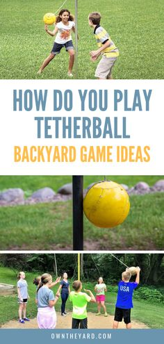 Ah, tetherball, that sweet playground game that fills us with a sense of nostalgia for our childhoods and gets children itching for recess. Backyard Games Kids, Outdoor Yard Games, Fun Outdoor Activities, Outdoor Play Areas, Pool Games, Backyard Play, Family Activities, Backyard Ideas, Kids Party Games