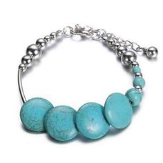 DEJAVU Sweetly Speckled Turquoise Bracelet - Jewelry