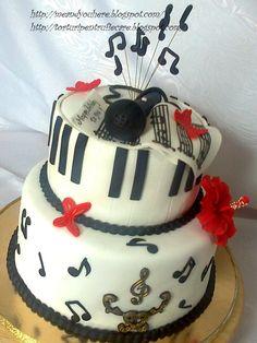 Tort muzical Birthday Cake, Desserts, Music, Food, Birthday Cakes, Meal, Deserts, Essen, Muziek