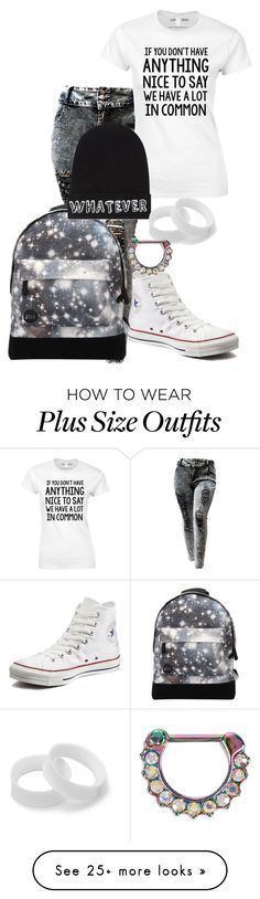 """""""Okay but Paige though """" by digital-minerva on Polyvore featuring Converse, Mi-Pac and Local Heroes"""
