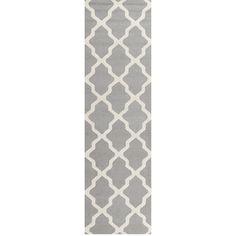$174 Kitchen Runner Safavieh Handmade Moroccan Cambridge Silver/ Ivory Wool Rug (2'6 x 14')