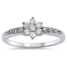 Vintage-Style-925-Sterling-Silver-Flower-Cluster-Ring-set-with-Cubic-Zirconia-CZ