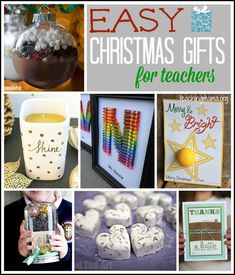 A collection of homemade, easy Christmas gifts for teachers, neighbors, or friends.