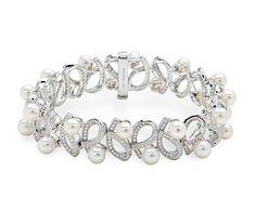 Rent jewelry - Diamonds: 1.89TW | Gold: 18K White | Length: 7 in. | Width: 1/2 in.