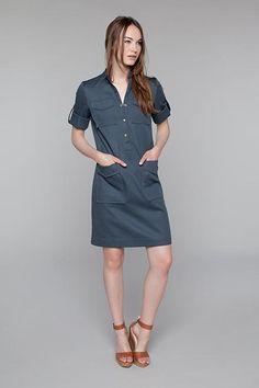 Slim Safari Dress / Emerson Fry