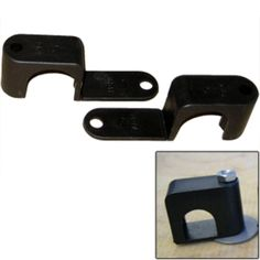 Weld Mount Single Poly Clamp f/1/4 x 20 Studs - 1 OD - Requires 1.75 Stud - Qty. 25