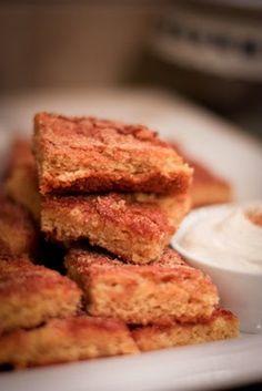 Momofuku cinnamon sugar bars (cross between blondies, snickerdoodles and coffee cake) fc