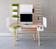 Tastefully Slotted Desks - The Worknest by Wiktoria Lenart is Organically Customizable (GALLERY)