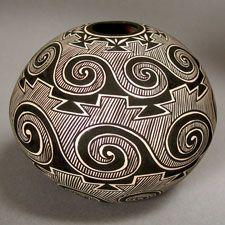 Pottery by Paula Estevan of Acoma Pueblo