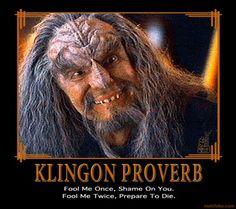 Klingon Proverb