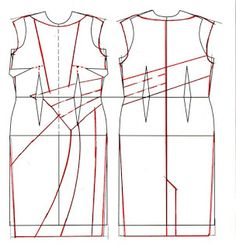 well-suited: Pattern Puzzle - Three Colour Wrap Dress 2 oof 2