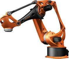 Beautiful industrial robot