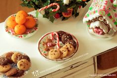 Christmas Cookies and Candy E 1/12 scale dollhouse miniature. $25.00, via Etsy.