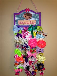 Diy doc mcstuffins hairbow holder