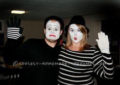 Creative Mime Couple Halloween Costume