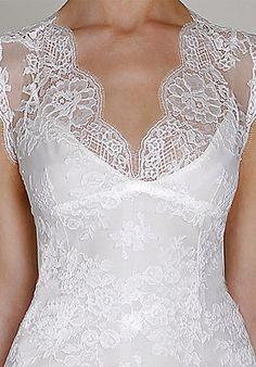 v-neck & lace