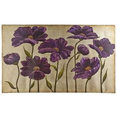 Winston Porter 'Plum Bliss Handpainted Canvas' by Art Atelier Alliance Giclee Art Print on Wrapped Canvas Size: H x W x D Pier 1 Decor, All Things Purple, Canvas Art Prints, Purple Flowers, Canvas Size, 5 D, Wrapped Canvas, Tapestry, Hand Painted