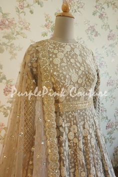NEW Luxurious beading lace fabric with sequins elegent shinning fashion dress lace light champagne Pearls lace fabric for evening dress