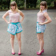 Look do Dia: short saia estampado - Blog de Moda por Nathalia KalilBlog de Moda por Nathalia Kalil
