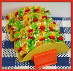 Felt tacos : figure out something else for the toppings...