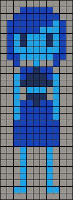 Lapis Lazuli Steven Universe Perler Bead Pattern