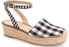 Cute gingham espadrille platform sandal