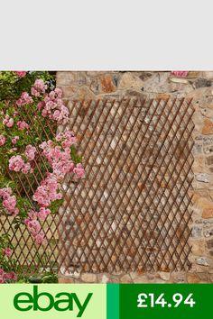 Fence Panels Garden & Patio #ebay Trellis Panels, Fence Panels, Expanding Trellis, Willow Fence, Garden Screening, Pergola, Outdoor Structures, Patio, Nature