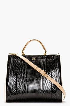 DOLCE & GABBANA Black Miss Sicily Shoulder Bag | Cynthia Reccord