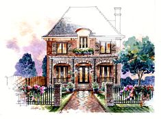 Southern Living House Plans, French Country House Plans, French Cottage, French Country Decorating, Country French, Cottage House Plans, Cottage Homes, Home Design, Three Story House