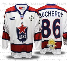 Authentic CSKA Kucherov hockey jersey by Lutch USA fd2b910636a