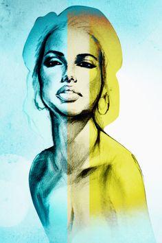 Lady. Illustration. Fine art. Art of Cat Leewaye: artofcat.com