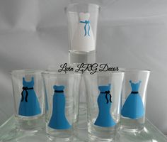 Bridal Party Shot Glasses~ Bridemaids Shot Glasses~ Shot Glasses- Bridal Gift~ Bachelorette Gift~ Engagement Gift~ Wedding Gift~ Gag Gift by LivinLRGDecor on Etsy