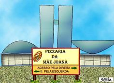 Brasil-Congresso Nacional-2006-Charge-Pizzaria da Mãe Joana-Charge de Bessinha