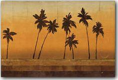 Sunset Palms I Art Print
